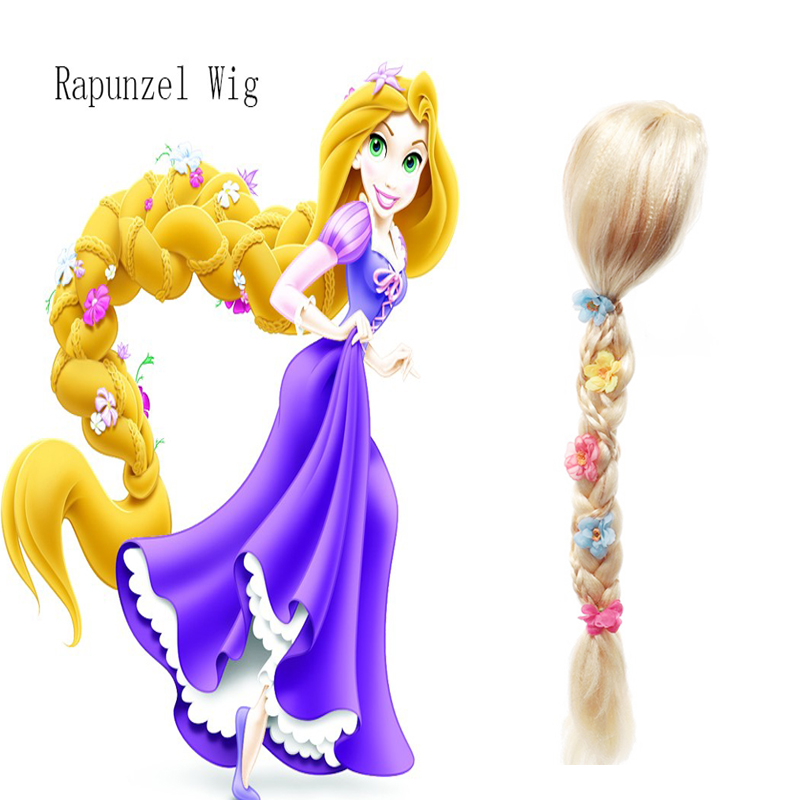 Children and adults cos Princess Le Pei magic fate role play wig long hair braid performance headdress with flowers