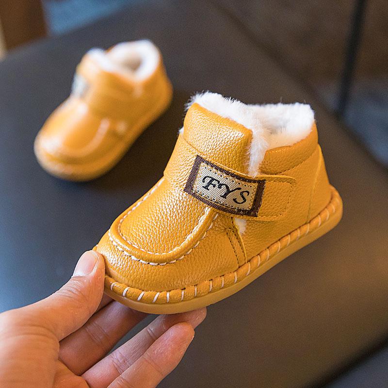 婴儿冬季女宝宝鞋子0一1-3岁棉鞋12-12新券