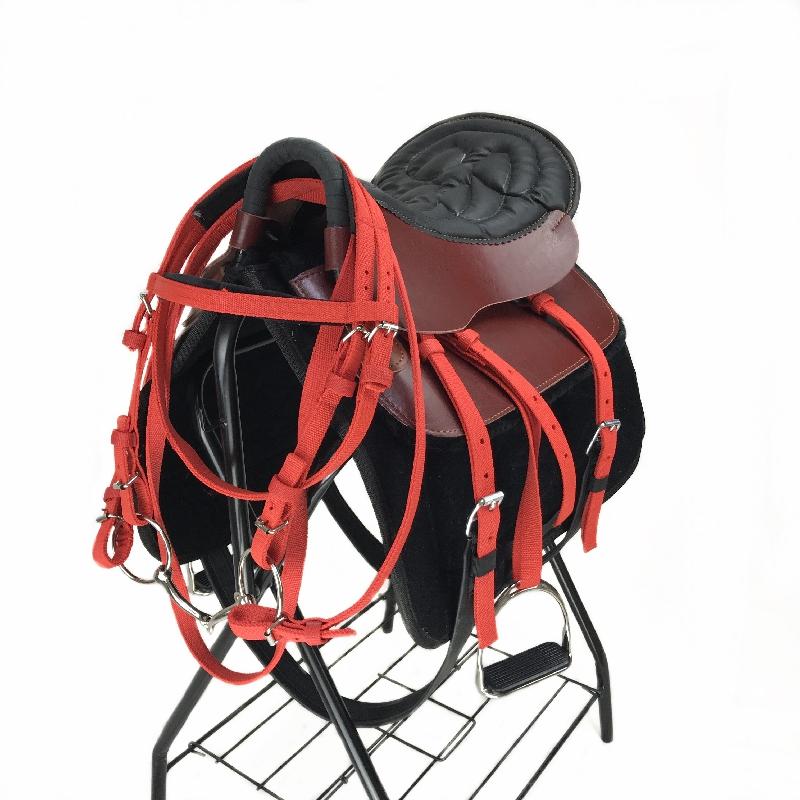 Седло сын новый воловья кожа размер короткая лошадь тур пассажир седло седло лошадь инструмент лошадь техника статьи полный набор деталей спеццена доставка включена