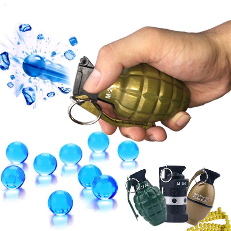 新款儿童玩具枪仿真手榴水弹抢水晶弹PP软弹枪成人真人cs对战玩具