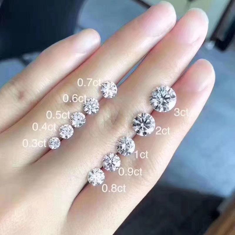 Royan珠宝 钻石戒指求结订婚定制1克拉50分30分