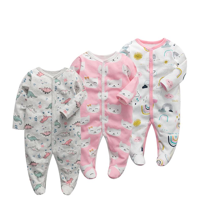 BABY BODYSUIT spring and autumn new born baby long sleeve wrap foot crawl BABY BODYSUIT crawl suit newborn childrens wear