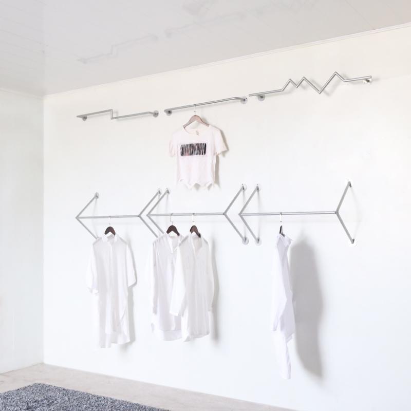 铁艺服装店服装架上墙壁挂个性货架限时2件3折
