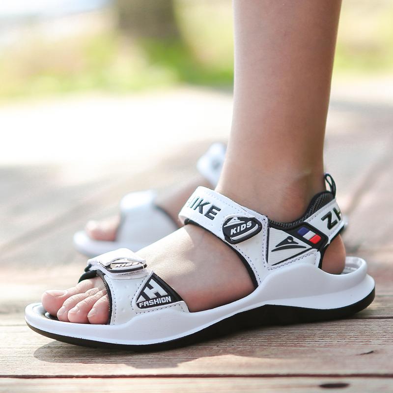 夏季2019新款10男童12中大童沙滩鞋热销3件需要用券