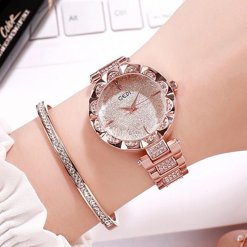 2020 new style watch womens simple temperament atmospheric diamond fashion personality waterproof quartz womens Watch