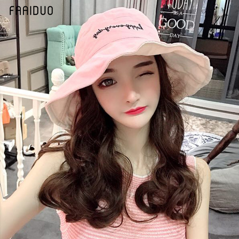 。 Net red fishermans hat and wig for women