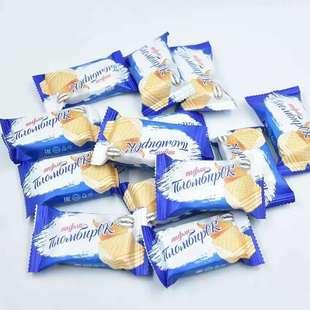包邮 俄罗斯进口阿孔特冰淇淋威化微甜饼干网红休闲零食500克