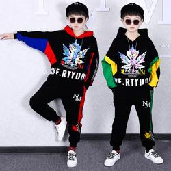 男童春装卫衣套装3韩版时尚4中童5男孩6洋气7帅气8岁10秋季12潮衣
