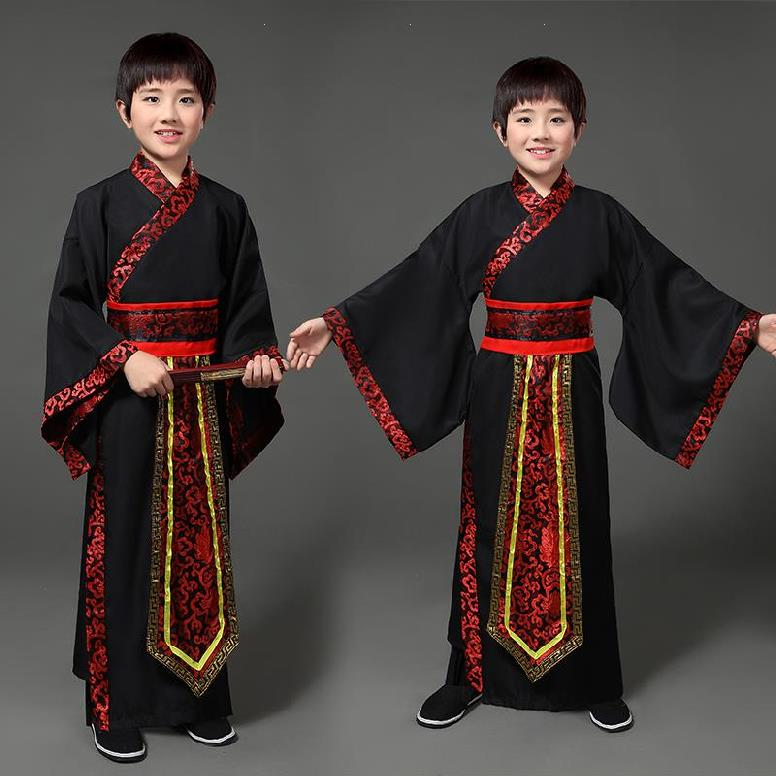 Big Boy Tangfu Clothing. Boys' costumes for the performance of Children's Day are in the comfort of the young master's clothing