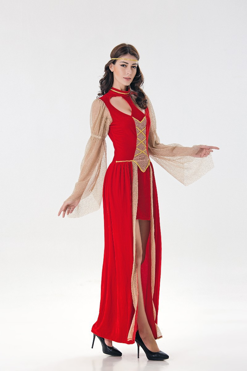 New European and American medieval court costume role play exotic Princess King stage dress woman