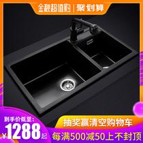 06108不锈钢厨房双槽水槽套餐洗菜盆洗碗池淘菜盆304九牧JOMOO