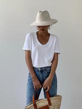 白色t恤女夏2021新款打底衫宽松韩版百搭休闲v领短袖上衣HUYIFAN