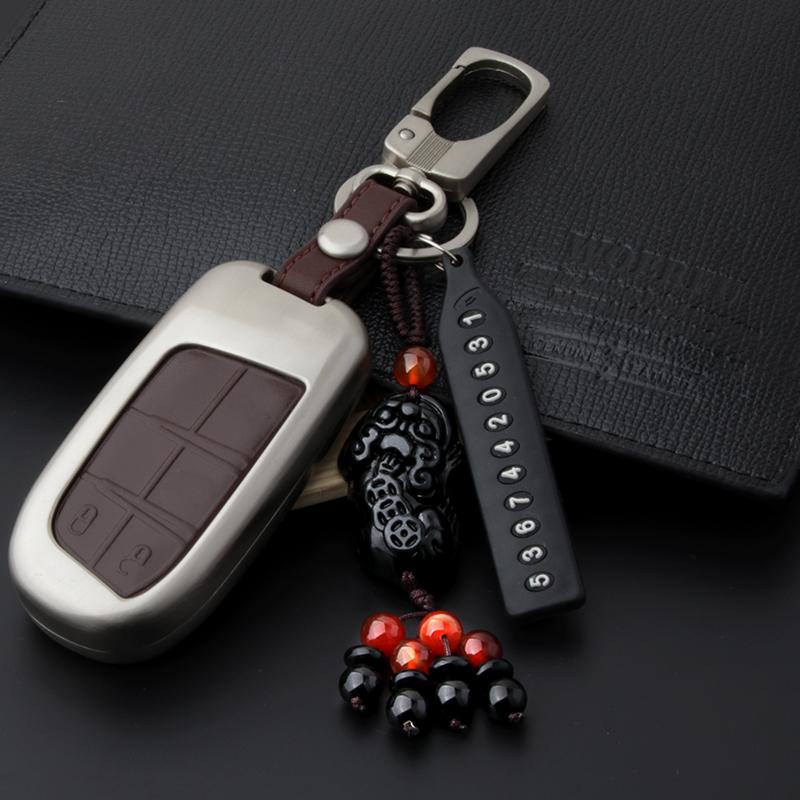 吉普大指挥官钥匙包指南者jeep吉普自由光车钥匙扣 高档钥匙壳套