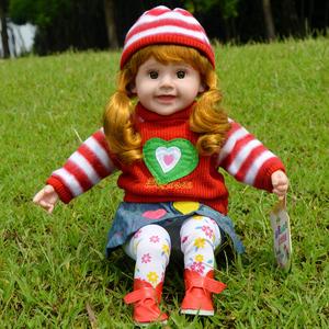 智能仿真会唱歌发声的洋娃娃语音声控对话软胶布娃娃女孩儿童玩具