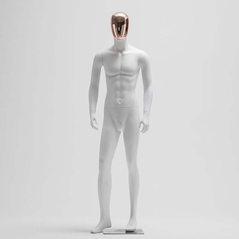 模特道具男全身玻璃钢哑白电度脸个性时尚运动韩版男装模特展示架