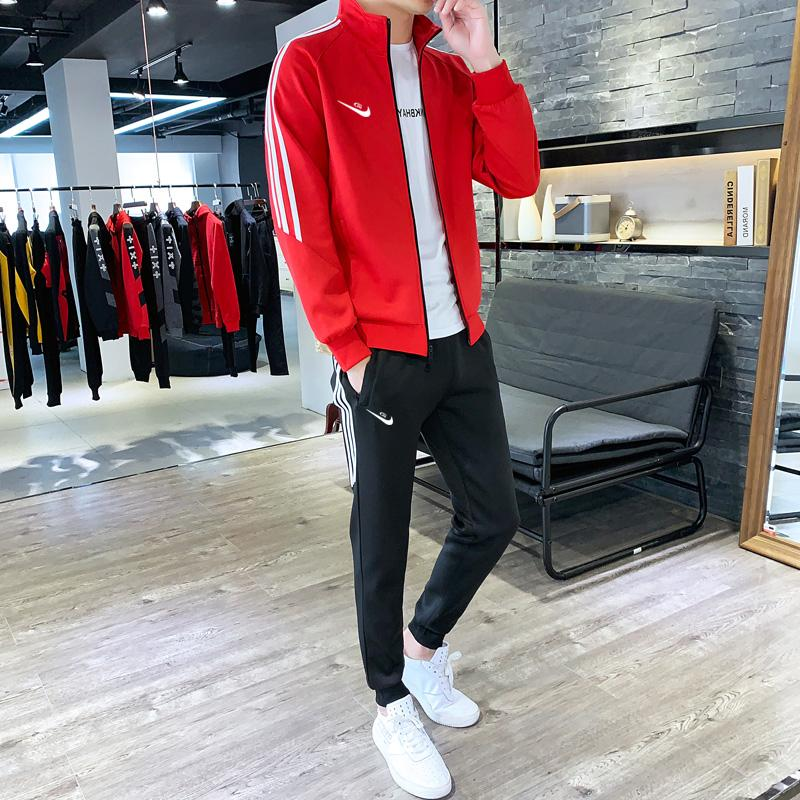 Sweater set mens spring and autumn sports casual wear Korean fashion handsome match with a set of versatile Xuanyao Nike
