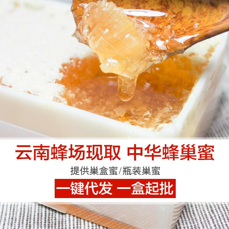 云南野生蜂蜜蜂巢农家自产土特产蜂巢蜜百花蜜盒装代加工