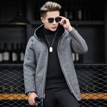 帅气高端冬皮毛一体男式双面大衣