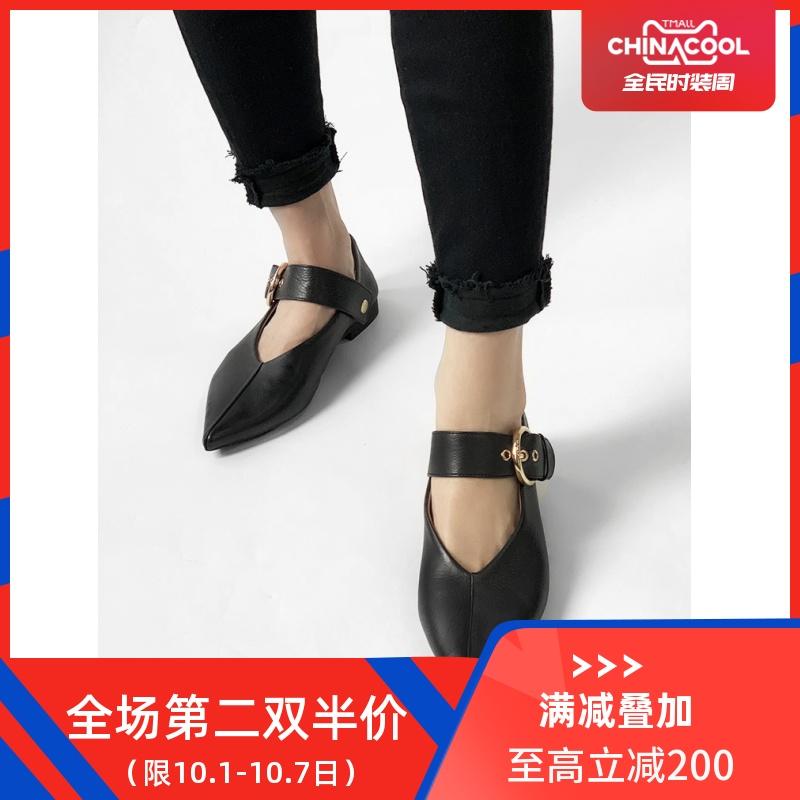 lux seven女巫百搭复古v口女单鞋(非品牌)