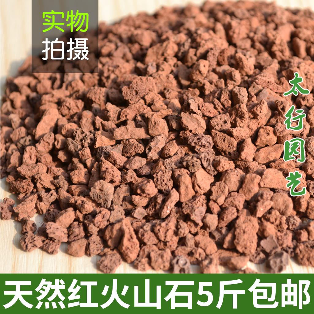 火山石颗粒天然红火山岩玄武岩多肉土铺面石水族滤材鱼缸铺底底砂