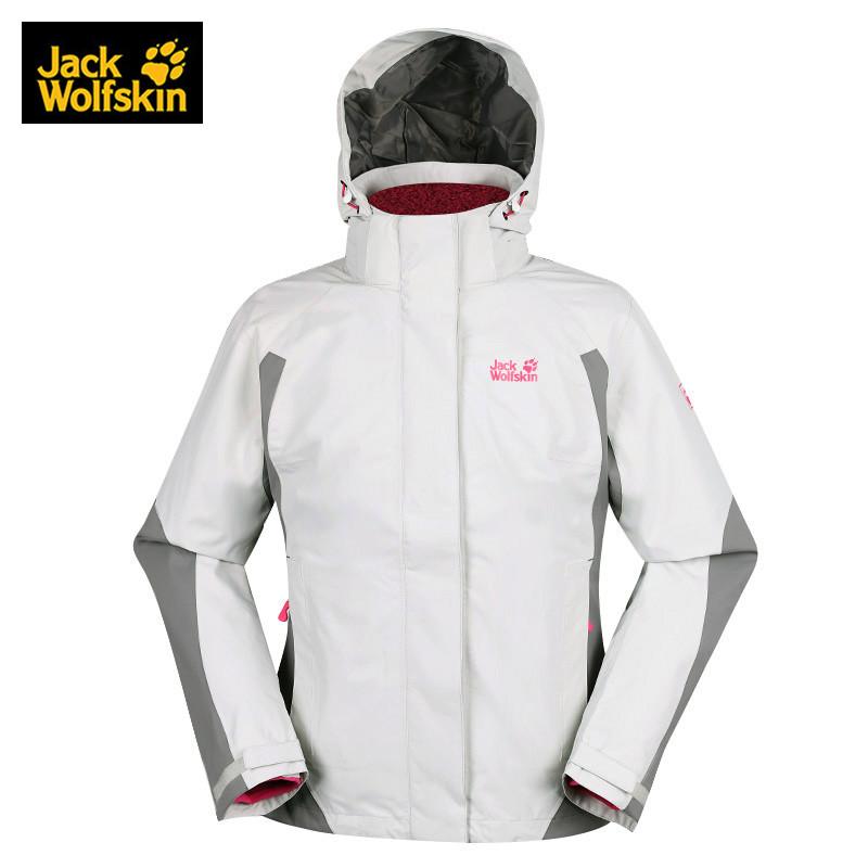 Jack Wolfskin狼爪女装冬款户外三合一冲锋衣防风外套5007441 DB