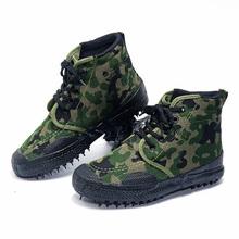 橡胶底高帮耐磨防滑作训鞋男女劳工通用农田干活解放鞋透气工地鞋