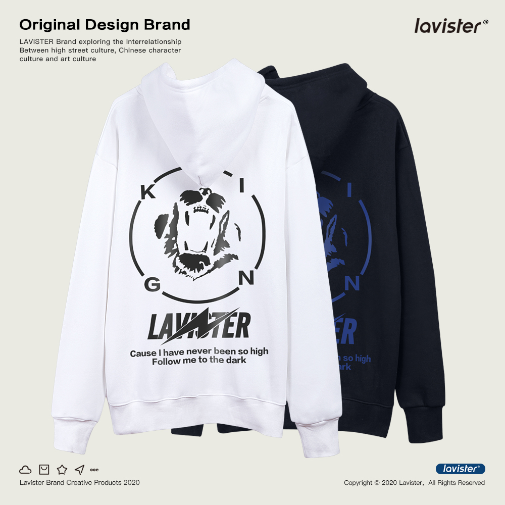 Las brand skull printed Hoodie mens autumn and winter new European and American Plush long sleeve mens Hoodie trend