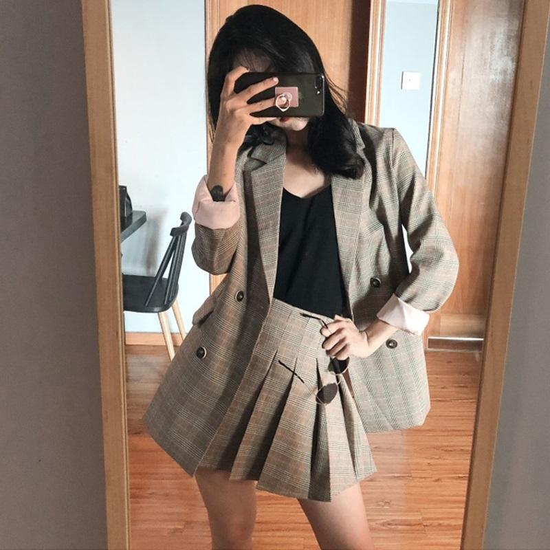 138.00元包邮2019春秋季新款小个子俏皮百褶裙