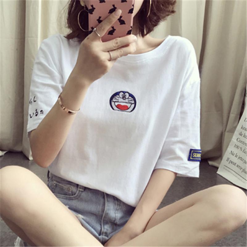 纯棉短袖女装2021年夏季新款t恤