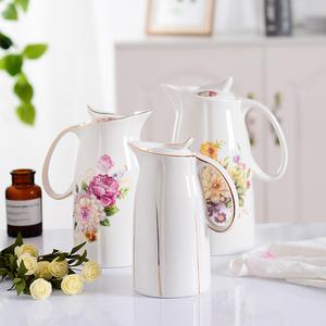 家用凉水壶大容量陶瓷大号凉白开水壶耐高温冷水壶套装防爆超大