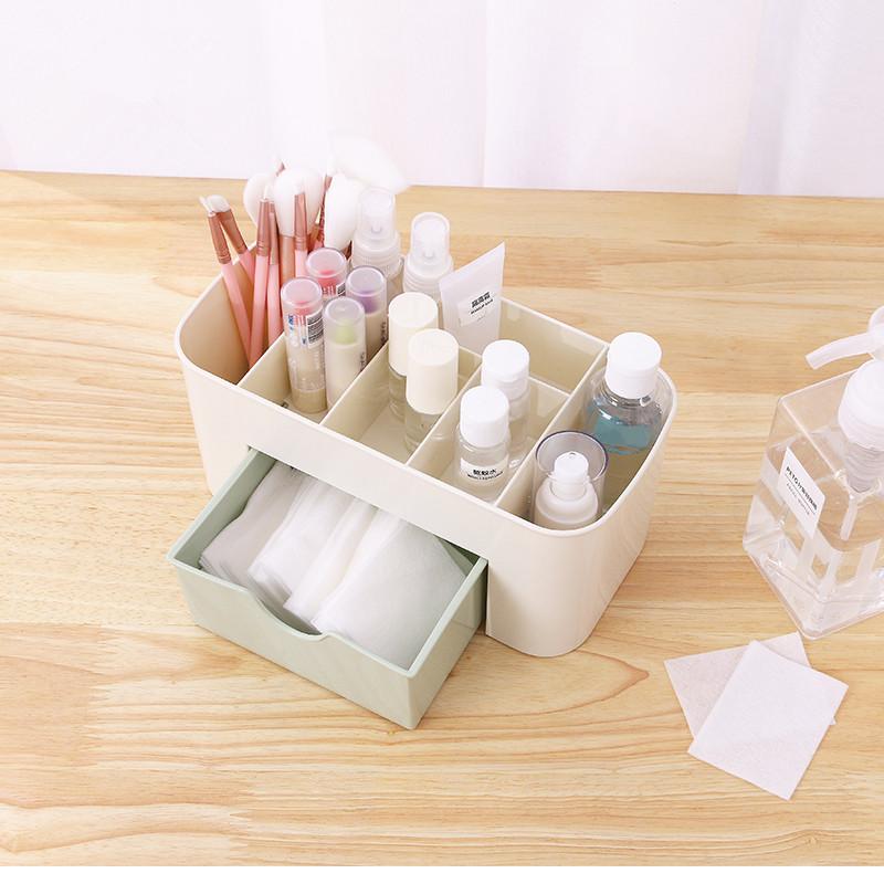 化妆收纳盒方形收纳箱防水美容院灯挂壁装饰品无盖梦幻简美田园风