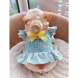 宠物公主裙狗狗韩版大码衣服夏季薄款服装比熊泰迪法斗雪纳瑞胖狗图片
