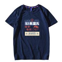 冠军狮丹夏季日系潮牌超火国潮短袖T恤男大码韩版宽松半袖tee体恤