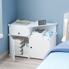 简易床头柜出租房专用塑料小型多功能储物床边收纳柜子卧室置物架