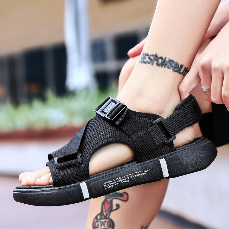 新款拖鞋凉鞋两穿魔术贴轻质底罗马沙滩男鞋XZ103D-1-W926-P28