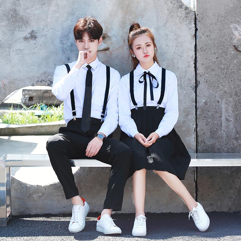 韩版秋男女校服套装学院风韩国初高中学生装日系水手服班服制服裙