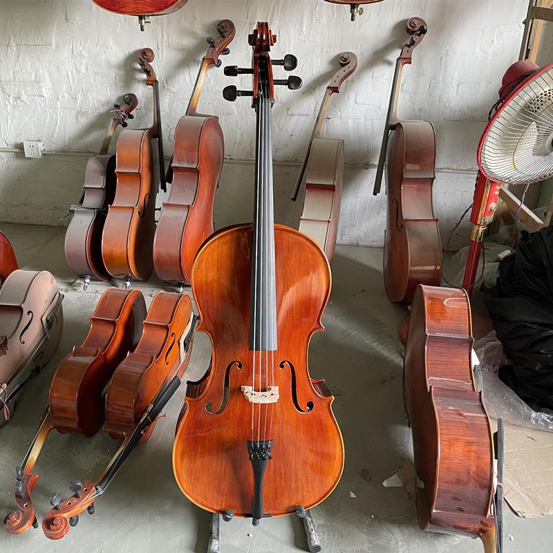 凤美专业级考级演奏手工大提琴初学者实木大提琴儿童成人乐器