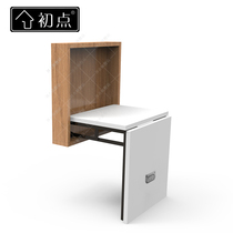 The first point change shoe stool folding stool Xuan guan invisible wall-mounted door home footstool into the wall chair shoe stool