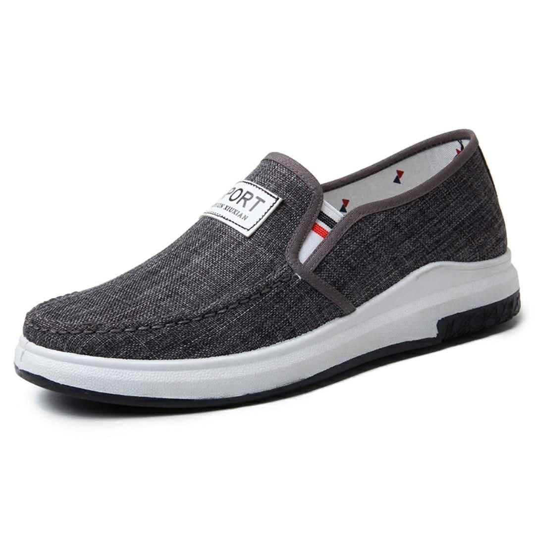 运动休闲鞋男秋冬季加厚男鞋子懒人一脚蹬青年厚鞋底百搭潮鞋。