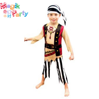 Childrens costume Cosplay boys Pirates of the Caribbean Captain Jack bandit Costume