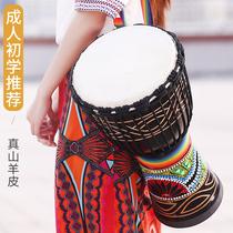 羊皮丽江手鼓非洲鼓初学者入门专业打击乐器标准10寸12寸民谣鼓