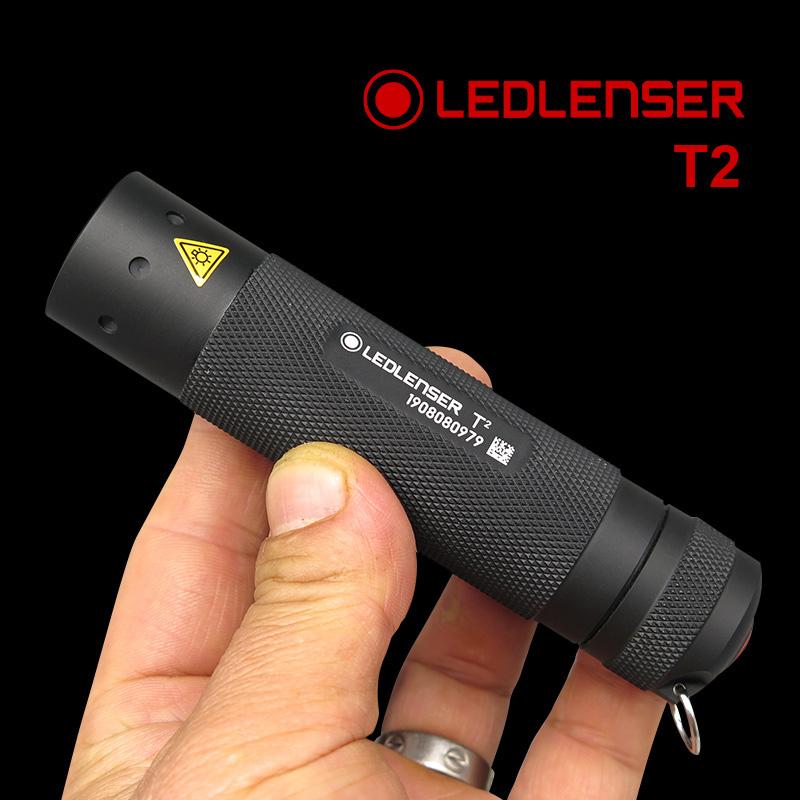 德国莱德雷神LedLenser原装T2  TT经典小巧强光手电筒 便携家用