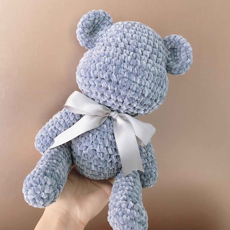 暴力熊diy毛线特大号材料包雪尼尔金丝绒围巾线手工钩针娃娃玩偶