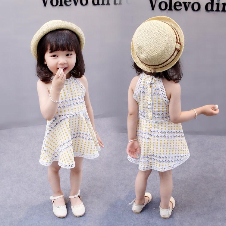 夏款婴幼儿女宝宝背心裙公主裙无袖连衣裙子百搭款0-2-3-4岁夏季