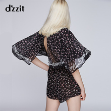 Dzzit Plain Summer 2019 New Triangular Show Back Small Fragments Chiffon Couplet Girls 3G2P7066A