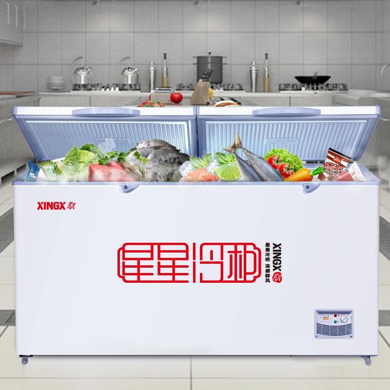 11月20日最新优惠星星冷柜406E升大冰柜商用单温冷藏冷冻柜大容量雪柜大型超市士多