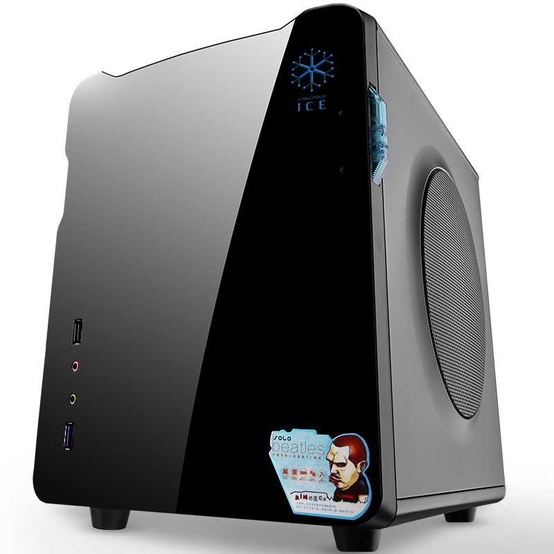 玩嘉甲壳虫机箱 台式机电脑itx迷你小机箱 M-ATX家用电脑主机机箱