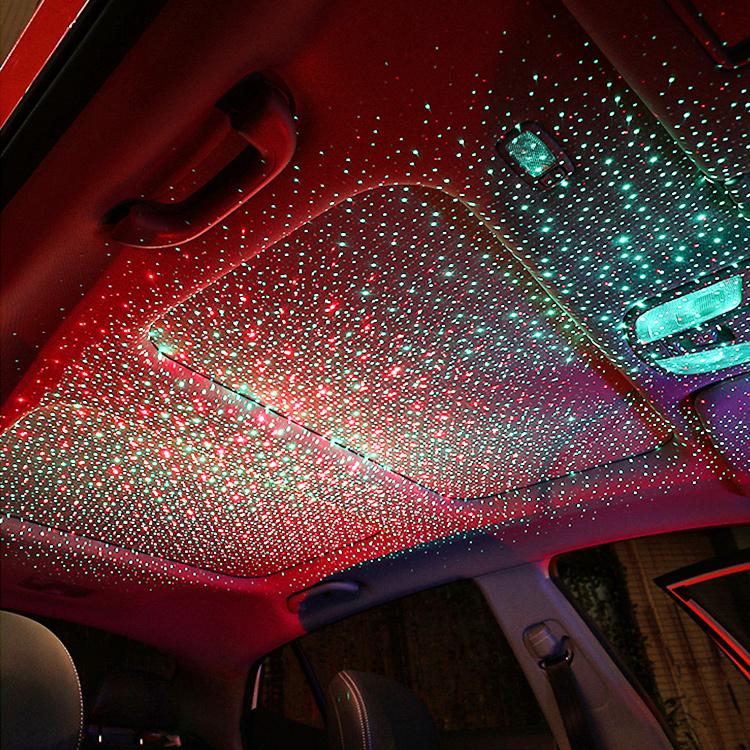 汽车车顶星空灯改装车内顶棚满天星车载usb梦幻浪漫氛围灯投影灯