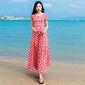 格子雪纺高端连衣裙女长款长裙2020流行夏季新款韩版气质夏天裙子
