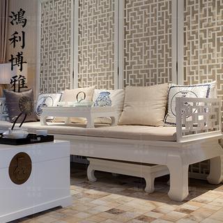 Будда-кровати,  Синий синь шан китайский стиль белый ocean кровать гостиная дерево диван современный простой следующий ясно античный рохан диван мебель, цена 5470 руб